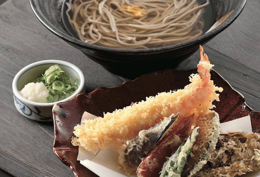 大海老天麩羅蕎麦